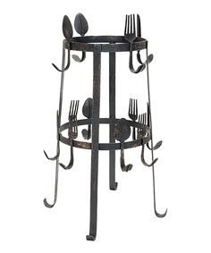 Look at this Black Spoon & Fork Cup Rack on #zulily today!