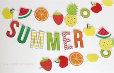 Summer Fruit Garland {free printable}