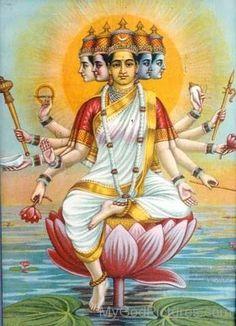 Goddess Gayatri Mount On Lotus