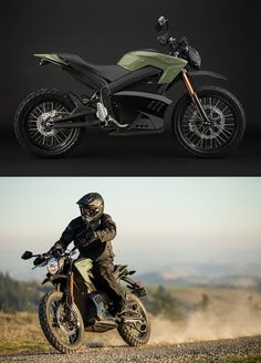 Zero Electric Motorcycles. You'll never run out of gas, but spare batteries are a bitch...