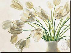 Bouquet di Tulipani Stretched Canvas Print by Eva Barberini at Art.com