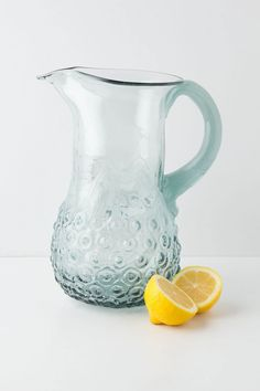 Effervesce Pitcher from Anthropologie. I like the pattern at the bottom.