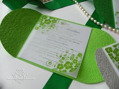 Top Green Wedding Invitations With Green And White Summer Wedding Invitations Invitatii Alb Si Verde In Wedding Invitations Wedding Invitation Card Design, Summer Wedding Invitations, Handmade Wedding Invitations, Elegant Wedding Invitations, Invitation Ideas, Verde Greenery, Faire Part Invitation, Baby Shower, Wedding Gallery