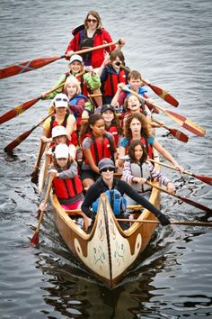 """""""'N' is for north canoe Great photo of kids learning to paddle in one of our north canoes. Canadian Canoe, Wood Canoe, Canoe And Kayak, Canoes, Zoo Animals, Great Photos, Paddle, Kids Learning, Cool Kids"""