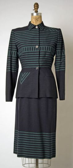 Adrian suit ca. 1949 via The Costume Institute of the Metropolitan Museum of Art