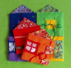 Developing rug for children - Magic playhouse.  Author's handmade
