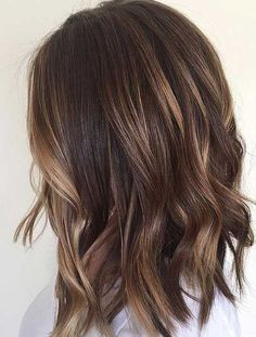 10 Balayage Hairstyles for Shoulder Length Hair 2019 Blonde Ombré with Textured Lob - Caramel Chocol Ombre Blond, Best Ombre Hair, Ombre Hair Color, Dark Blonde, Hair Colors, Long Bob Balayage, Balayage Hair, Balayage Straight, Medium Hair Cuts