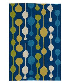 Blue & Yellow Mod Home & Porch Indoor/Outdoor Rug #zulily #zulilyfinds