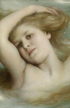 "♒ Mermaids Among Us ♒ art photography & paintings of sea sirens & water maidens -Gabriel von Max, ""Undine."""