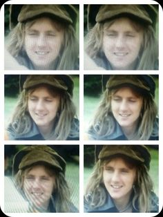 Roger Taylor...tea time in Japan. Took a screenshot from the video and made this collage. He is so cute!