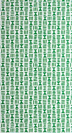 MissPrint Hieroglyph wallpaper in vibrant Kew colour way. The design is reminiscent of ancient Egyptian writing, Hieroglyph has been designed using straight horizontal and vertical lines to create a fabric like woven texture when viewed from afar. Nursery Wallpaper, Green Wallpaper, New Wallpaper, New Print, Botanical Prints, Designer Wallpaper, Fabric, Kinfolk, Egyptian