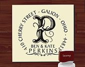 Custom SELF INKING stamp - Return Address Rubber Stamp - style MS5311A- Personalized wedding or christmas gift