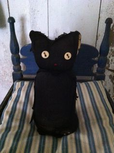 "Primitive Sock ""Black Cat""! Me & Savannah could make these!!"