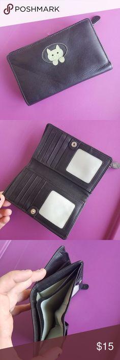 30eb1b5b8b Ciccia Black Cat Wallet - NWOT S'cute! Black faux leather wallet with plenty