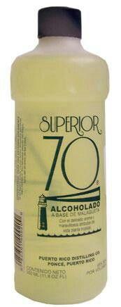 Alcolado malagueta resuelve todo. Puerto Rico. My grandma swears by this stuff!