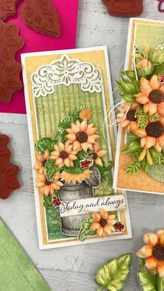 Paper Art, Paper Crafts, Butterfly Cards, Flower Cards, Fall Home Decor, Paper Decorations, Fall Crafts, Homemade Cards, Paper Flowers