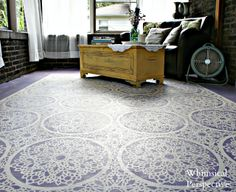 Wow, this stencilled floor is AMAZING. Whimsical Perspective: Stenciled Floor Porch Reveal