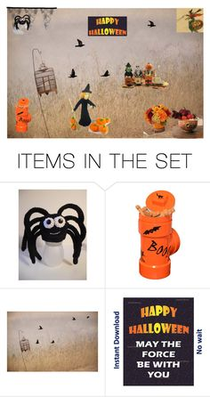 """""""Happy Halloween"""" by boardartistry on Polyvore featuring art and fallonthefarm"""