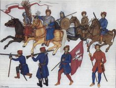 Wagon troops, crossbow men, and all the other equipment and tactics settled states used to fight steppe empires/tribal confederations on their frontiers. Military Insignia, Eastern Europe, Military History, Larp, Renaissance, My Arts, Military Uniforms, Troops, Soldiers