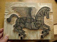 pattern with printing, pattern can be in positive or negative space Trojan Unicorn Pegasus