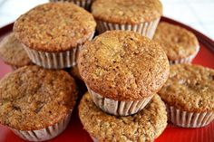 Muffins integrales de plátano