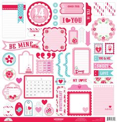 Doodlebug Design Lovebirds Collection This-N-That Sticker $3.99