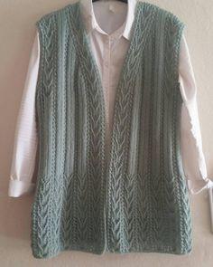 Hand Knitting Women's Sweaters - Knitted Women's Vest, Cardigan, Sweater Baby Knitting Patterns, Knitting Designs, Hand Knitting, Crochet Cardigan, Knit Crochet, Crochet Stitches, Sweater Cardigan, Knit Vest Pattern, Jamel