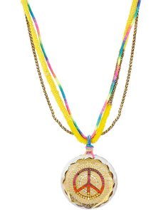 ST BARTS PEACE SIGN PENDANT MULTI accessories jewelry necklaces fashion