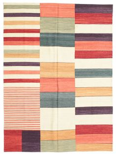 The Modern Kilim is a thin hand woven rug. While Kilim rugs have been around since at least 400 A. Modern Quilt Patterns, Textile Patterns, Print Patterns, Bauhaus Textiles, Pottery Patterns, Barn Quilts, Quilting Designs, Quilt Blocks, Fiber Art