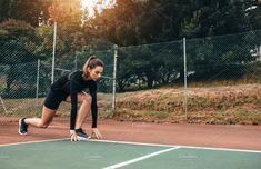 Ad: Beautiful female exercising by Jacob Lund on Portrait of a sportswoman stretching outdoors. Beautiful female exercising on tennis court. Business Cards And Flyers, Fitness Activities, Business Illustration, Sports Photos, Photo Effects, Sports Women, Around The Worlds, Lund, Beautiful Women