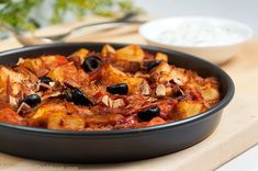 Turkish potato casserole (Patates Bastısı) is very healthy and flavorful side dish that is good to go with poultry or fish. It's also good to serve as main dish. Egyptian Potato Recipe, Turkish Fish Recipe, Turkish Recipes, Potato Recipes, Fish Recipes, Vegetable Recipes, Real Food Recipes, Vegetarian Recipes, Pescatarian Recipes