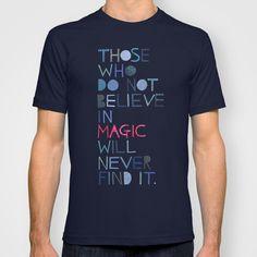 Believe In Magic illustrated t-shirt design $22.00