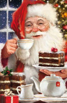 Simon Treadwell | Advocate Art Merry Christmas Santa, Christmas Scenes, Father Christmas, Christmas Pictures, Christmas Art, Vintage Christmas, Christmas Holidays, Christmas Decorations, Christmas Mantles