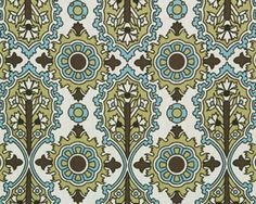 Elizabeth Chocolate/Natural by Premier Prints - Drapery Fabric