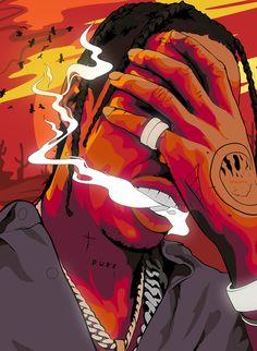 Travis Scott the Goat Travis Scott Iphone Wallpaper, Travis Scott Wallpapers, Rapper Wallpaper Iphone, Trippy Wallpaper, Rap Wallpaper, Cartoon Wallpaper, Arte Do Hip Hop, Hip Hop Art, Dope Cartoons