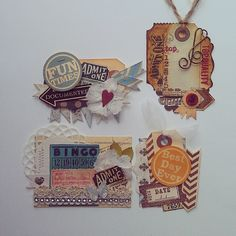 Psycho Moms Scrapbooks: Embellishments from Scraps