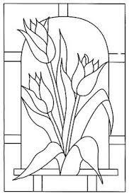 Resultado de imagen para flores dibujo vitral