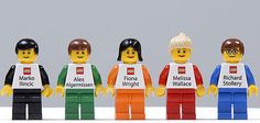 Lego Employees' Business Cards Are Lego People With Name and Phone Number Printed on Them!