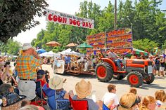 Coon Dog Day~Saluda, NC  always a big turn out for the tiny town.