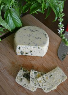 Vegan Smoky Pesto Cashew Cheez by An Unrefined Vegan. (chia seeds side effects) Vegan Cheese Recipes, Vegan Foods, Vegan Dishes, Raw Food Recipes, Cooking Recipes, Healthy Recipes, Cashew Cheese, Vegetarian Recipes, Veggie Cheese