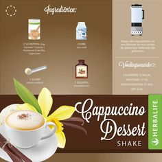 2 scoops Formula 1 Cafe Latte or cappuccino, 8oz milk or water,  1 scoop of protein, Almond extract