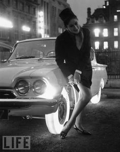 These illuminated tires were developed by Goodyear in 1961.
