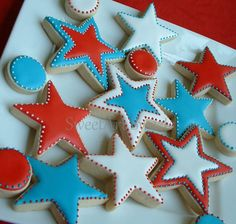 I like these. Simple. star sugar cookies