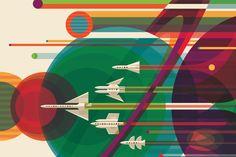 Détail du poster «Grand Tour», dans le calendrier2016 de la Nasa.