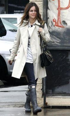 Rachael is stylish/Street Style/Hunter, Jimmy Choo