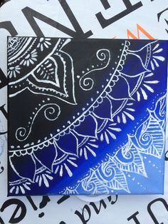 Painting with shades of blue