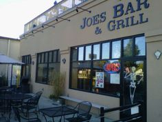 Joe's Bar & Grill, 248 Broadway, South Haven, Michigan. Outside seating at street level or topside!! A great place to watch the games.