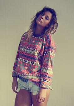 homegirl looks a hot mess but i like the shirt