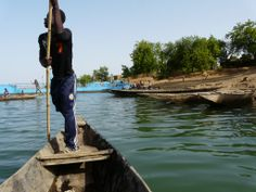 Bafoulabe, Mali Down The River, Africa, Boat, Landscape, People, Dinghy, Scenery, Boats, People Illustration
