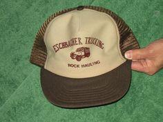 f65da701387 Eschbacher Trucking Rock Hauling trucker cap hat vintage one sz mesh  snapback old vtg by Fchoicevintage on Etsy